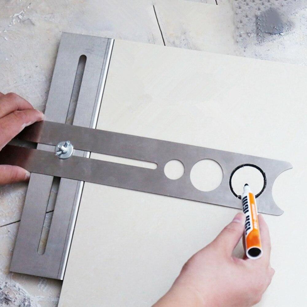Adjustable Puncher Tile Artifact Multi-function Tile Locator Tile Opening Artifact Artifact Auxiliary Tool Construction Tools B2
