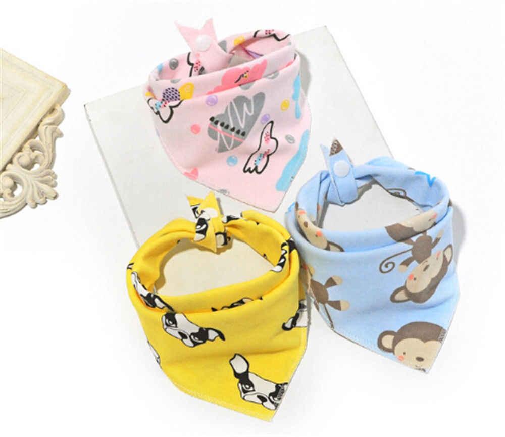 مريلة للأطفال عالية الجودة مُزينة برسوم كرتونية مطبوعة على شكل حيوانات منشفة للأولاد والبنات مريلة للأطفال على شكل رأس مثلثة مزركشة وشاح للأطفال