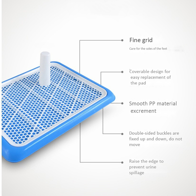 Antibacterial Potty Training Pads for Puppies and Small Pets with Fine Grid Toilet Tray 1