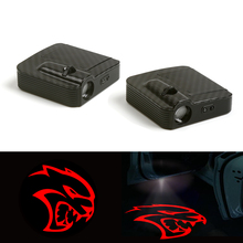 New Red Logo Car Door LED Laser Projector Shadow Light For Fit (Dodge Charger Hellcat) 12V Pair