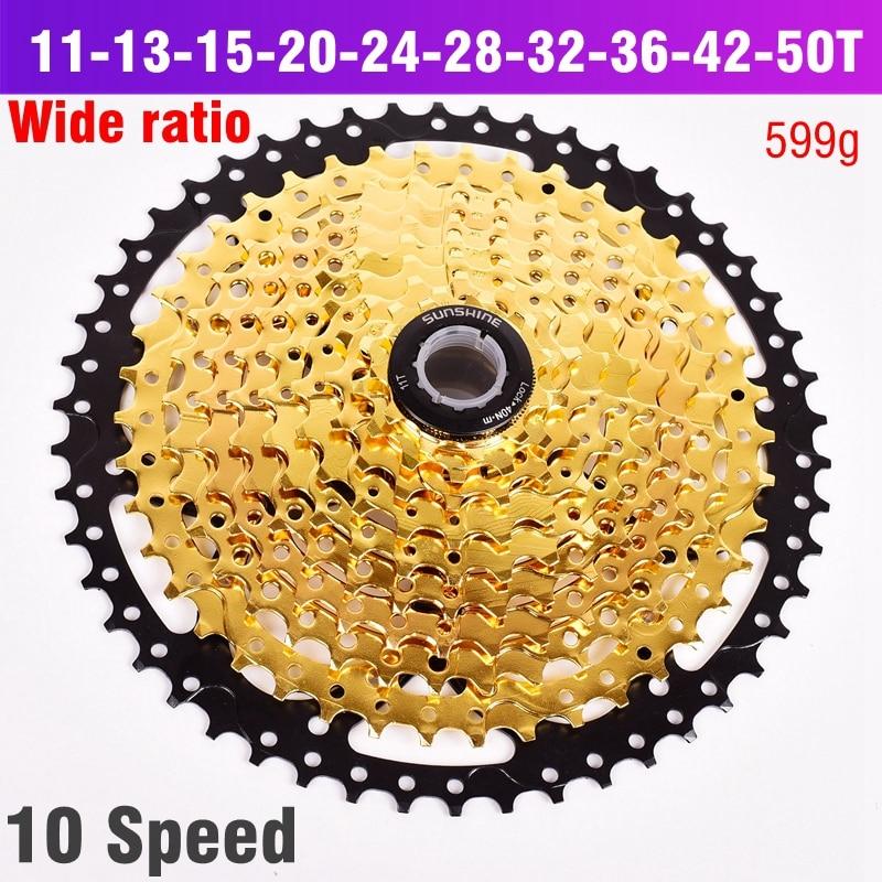 10 S roue libre 11-42 T 50 T 10 vitesses rapport large vtt VTT pignon de Cassette de vélo pour pièces m590 m6000 m610 m675 m780