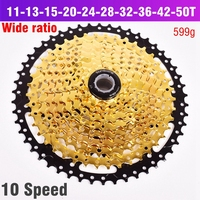 10S Freewheel 11 42T 50T 10 Speed Wide Ratio MTB Mountain Bike Bicycle Cassette Sprockets for parts m590 m6000 m610 m675 m780|Bicycle Freewheel| |  -