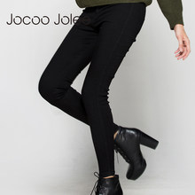 Jocoo Jolee High Waist Pencil Pants Jeans Sexy Slim Jeans For Women High Street Style Elastic Skinny Pants Trousers 2017 New(China)