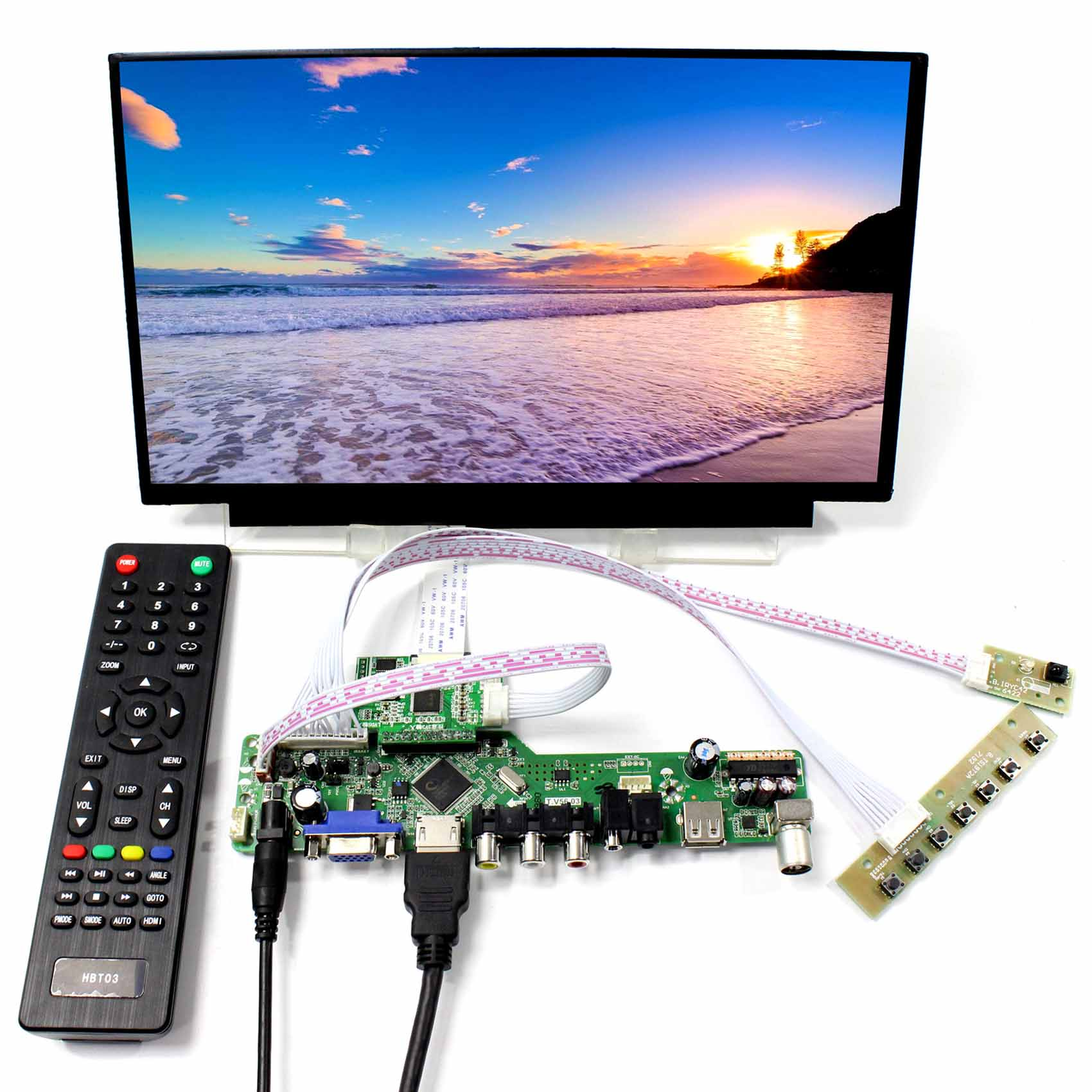 11.6inch N116HSE EJ1 EA1 IPS LCD Screen Backlight WLED HDMI VGA CVBS USB RF LCD Controller Board tv pc hdmi cvbs rf usb audio driver board 13 3inch lp133wd1 sla1 1600x900 ips lcd