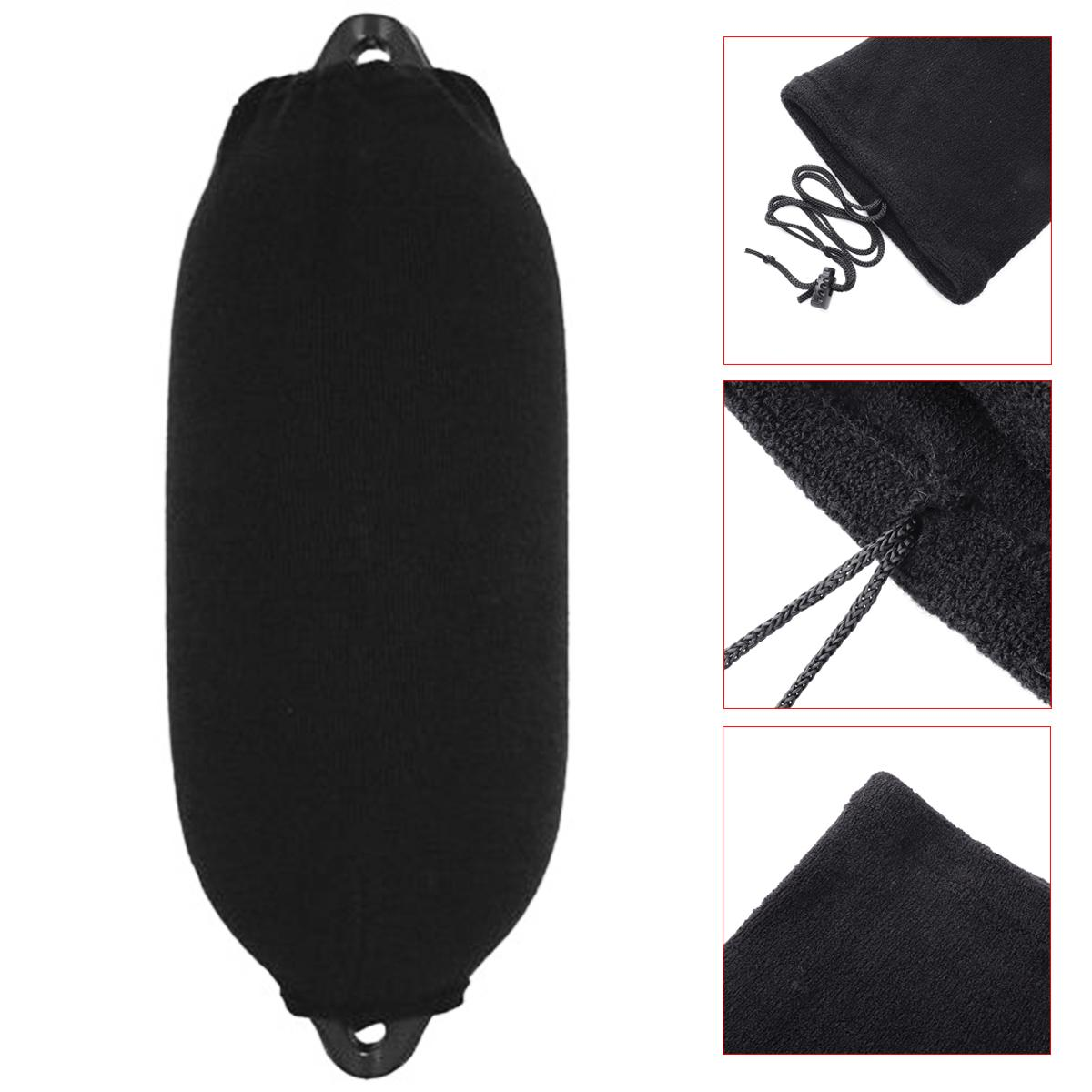 200*470mm Black Velvet Boat Inflatable Fender Cover Anti-UV Salt Protection Sun Snow Ice Frost Protector Windscreen Supplies