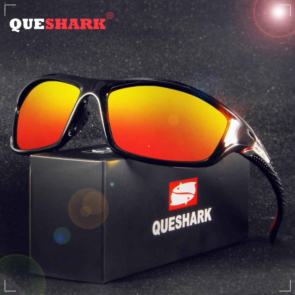 9f005abfcd QUESHARK TR90 Untralight Marco de gafas de sol polarizadas pesca gafas de  ciclismo para hombres y mujeres senderismo deporte corriendo Golf