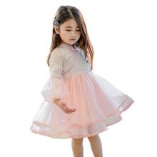 a18de680c38a9 2019 الربيع التطريز الزهور شيونغسام اللباس الصينية تشيباو الطفل فساتين ل  2-8 سنوات الفتيات الصغيرات الدانتيل الفساتين ملابس الصي.