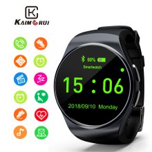 Kaimorui Smart Watch Support SIM TF Card Bluetooth Smartwatch Phone Pedometer Heart Rate for Xiaomi Huawei Android and IOS Phone купить недорого в Москве