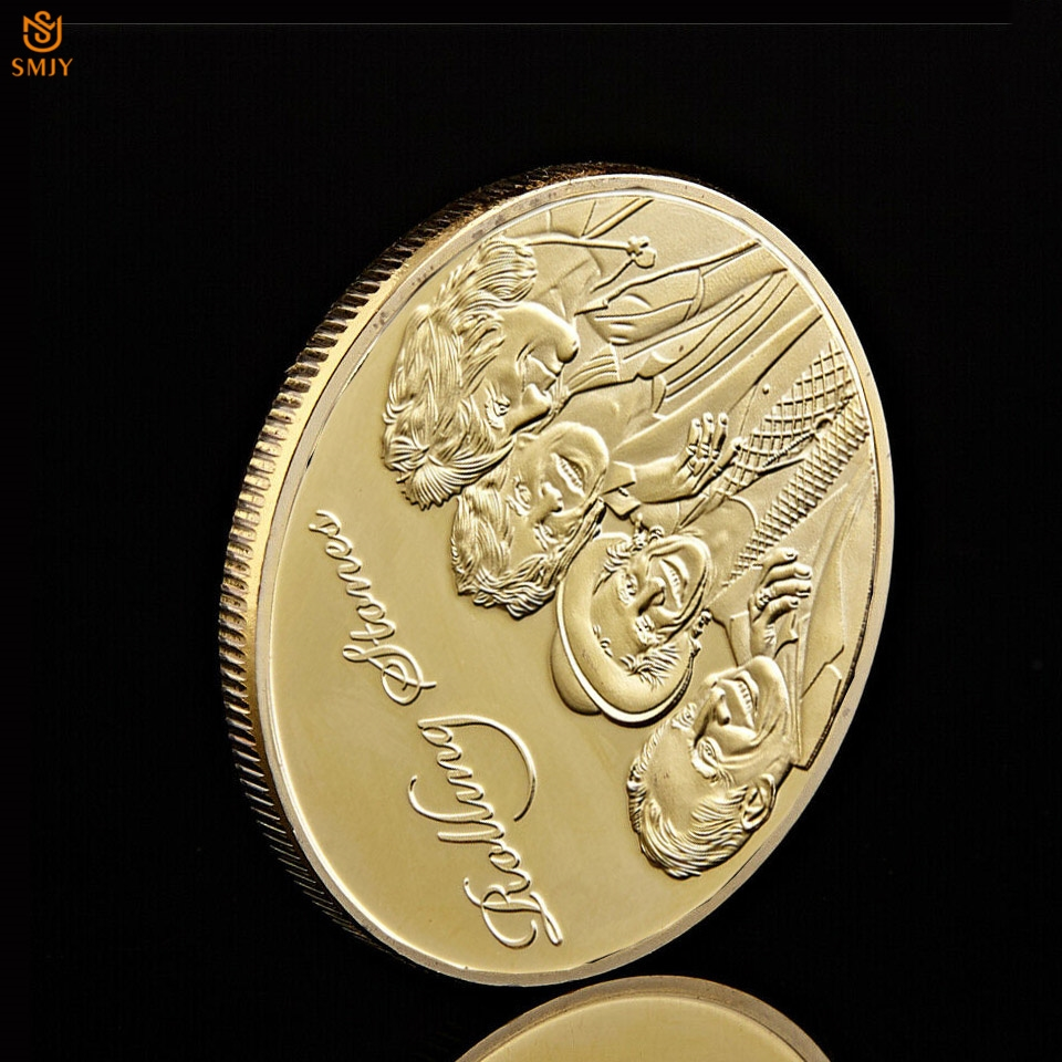 1962-2014 Euro Rocking Music The Rolling Stones Gold Plated Commemorative Coin