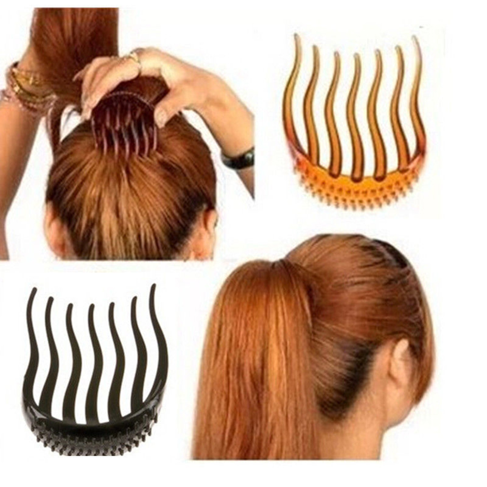 us $0.86 52% off|hot makeup comb hair brush pro hair puff paste heightening hairstyle device hair hase accessories heighten sponge hair make pad-in