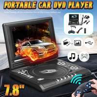 7.8 Inch Home Car DVD Player Portable TV Program Game 270 Degree USB SD FM Game Card Read Function Multimedia Player w/Gamepad