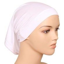 589e2ef3e569 Women Islamic Hijab Cap Scarf Tube Bonnet Hair Wrap Colorful Head Band  Inner Hijab Chest Cover