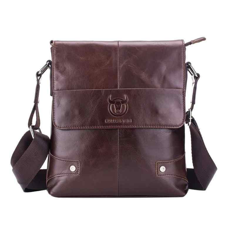 9f8a52f93c BULL CAPTAIN Men s Handbags Genuine Leather Shoulder Hand Bags and purse  Casual Solid man Crossbody Messenger