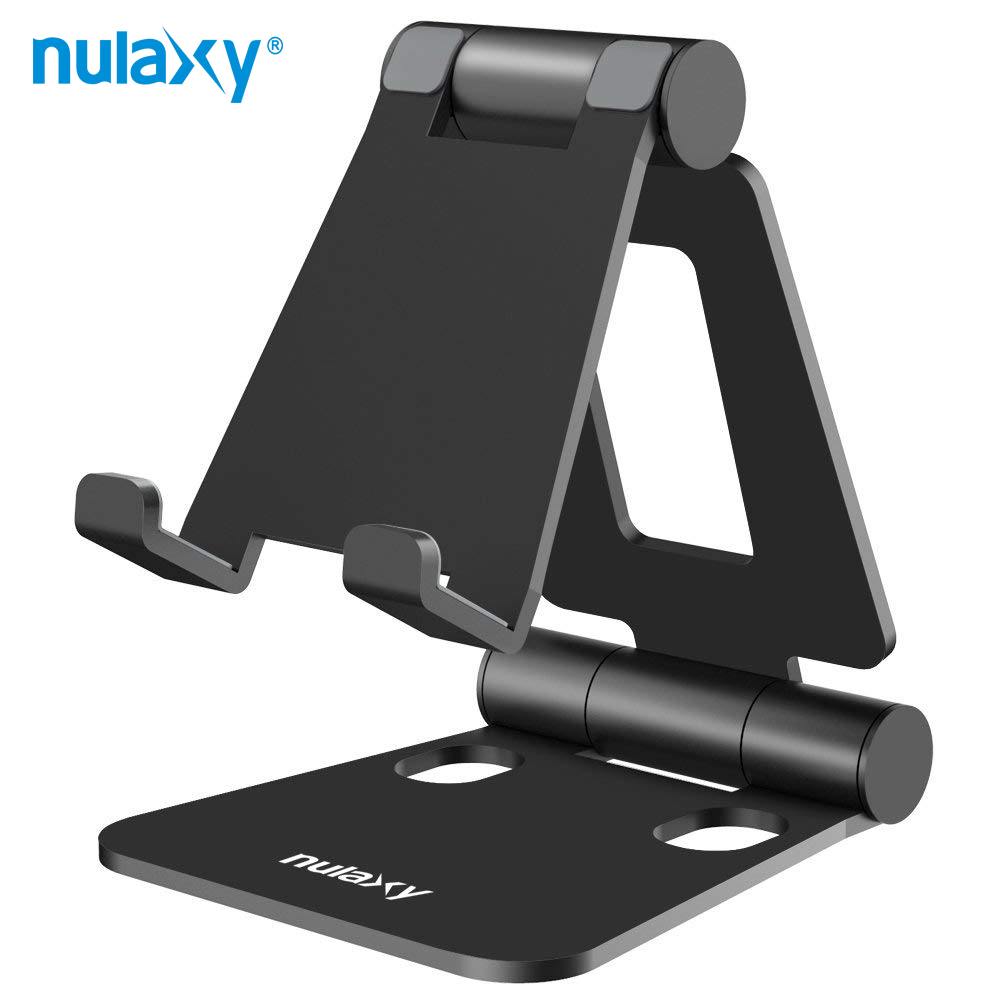 Nulaxy Portable Phone Stand for iPhone X 8 Portable Aluminum Alloy Adjustable Desktop Holder Dock for iPad Switch Tablet StandNulaxy Portable Phone Stand for iPhone X 8 Portable Aluminum Alloy Adjustable Desktop Holder Dock for iPad Switch Tablet Stand