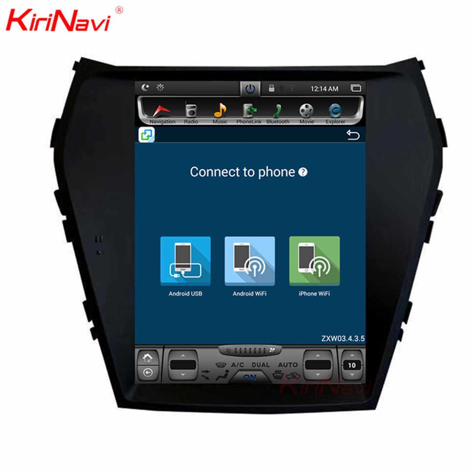 KiriNavi Verticale Screen Tesla Stijl Android 7.1 10.4 inch Auto Gps Navigatiesysteem Voor Hyundai Santa Fe IX45 Radio Bluetooth
