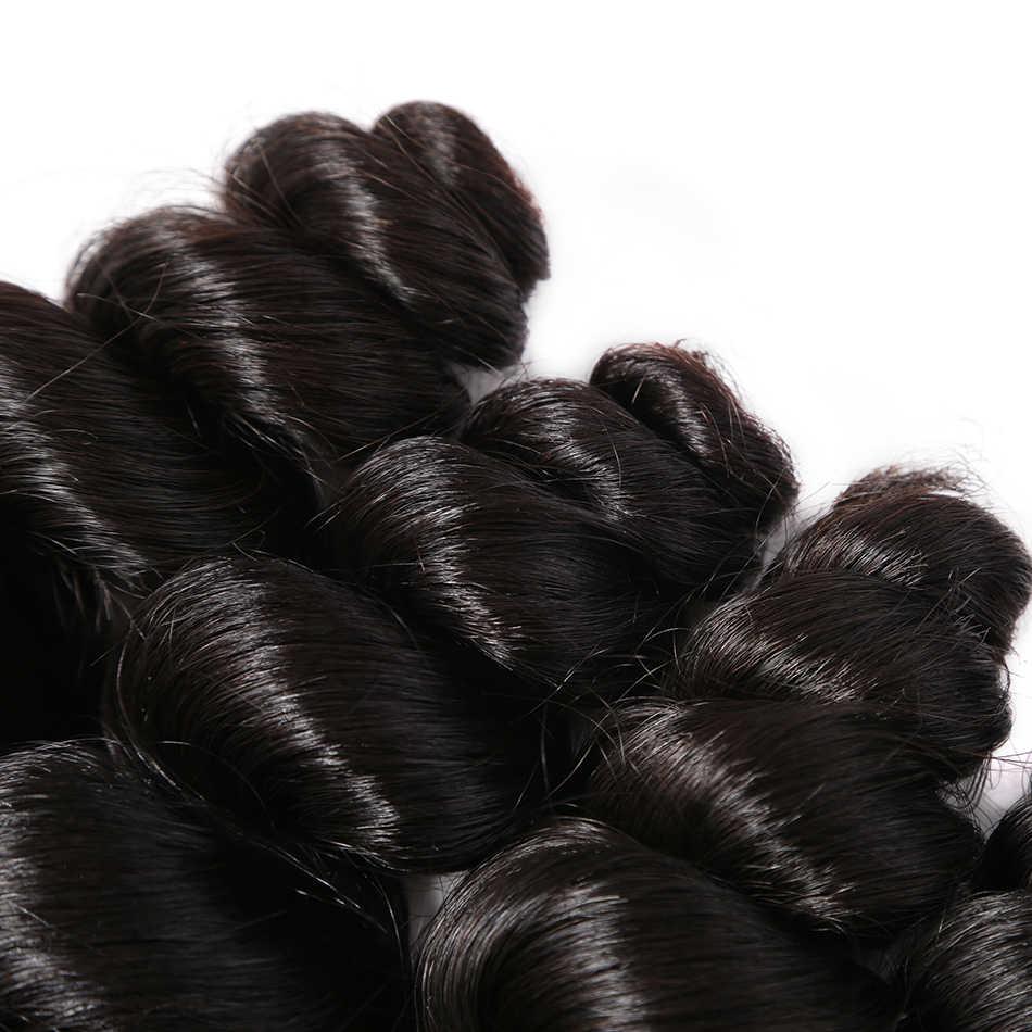 Wigirl перуанские накладные волосы пучки свободная волна 100% человеческие волосы 28 30 дюймов 1 3/4 пучки натуральный цвет НЕОБРАБОТАННАЯ накладка из натуральных волос