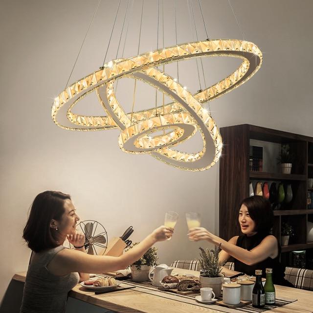 Remote dimming cristal Modern LED Chandeliers For Livingroom Bedroom Silver Finished crystal chandelier Home lighting Fixtures