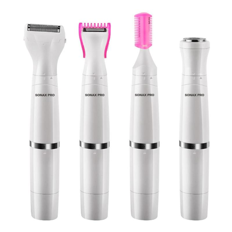 <font><b>4</b></font> <font><b>in</b></font> <font><b>1</b></font> <font><b>Epilators</b></font> Ladies Rechargeable Trimming Razor Electric Hair Removal Women Underarm Private Leg Hair Eyebrow Shav image