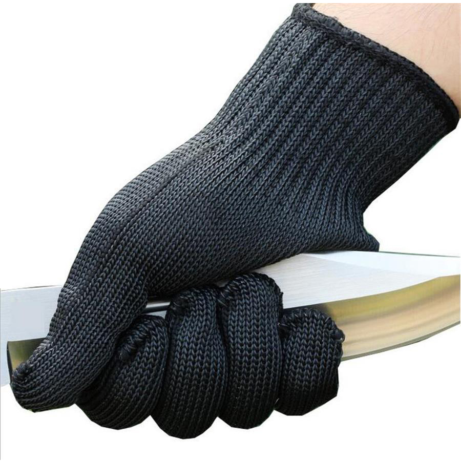 2019 Men Black Working Safety Gloves Cut-resistant Protective Stainless Steel Wire Butcher Cut Proof Anti-cutting Gloves In Short Supply