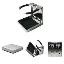 Well-made Stainless Steel Adjustable Folding Drink Holders for Marine Boat Caravan Car тонометр b well med 57