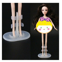 10Pcs/lot Doll Stand Display Holder For Dolls Stands Doll Accessories Support Leg Holders Transparent Color Girl Play Toy 2pcs lot doll stand display holder for barbie dolls doll accessories doll support leg holders transparent