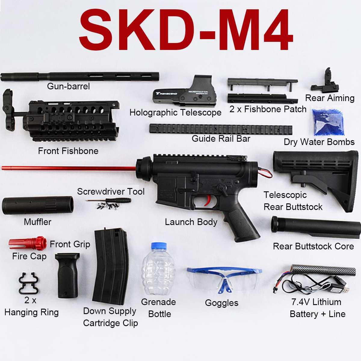 Bricolage Nylon SKD M4SS Gel Balle Blasters Shooter Électrique jouet de bain Guns Pour En Plein Air CS