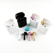 цены I7S TWS Bluetooth Headphones Portable Wireless Earphones With Charging Box mini bluetooth headsets Universal type TWS