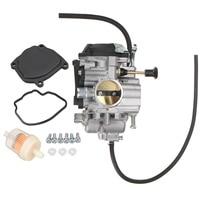 A Set Carburetor+Filter+Throttle Base Cover Rubber Gasket For Yamaha Bear Tracker 250 YFM250 Bear Tracker YFM 250 1999 2004 ATV