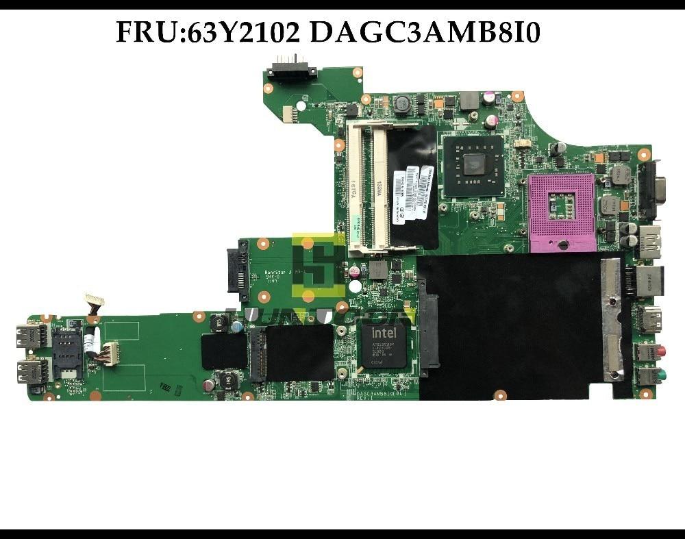 High quality FRU 63Y2102 for Lenovo Thinkpad SL510 laptop Motherboard DAGC3AMB8I0 GM45 PGA478 DDR3 100 Fully