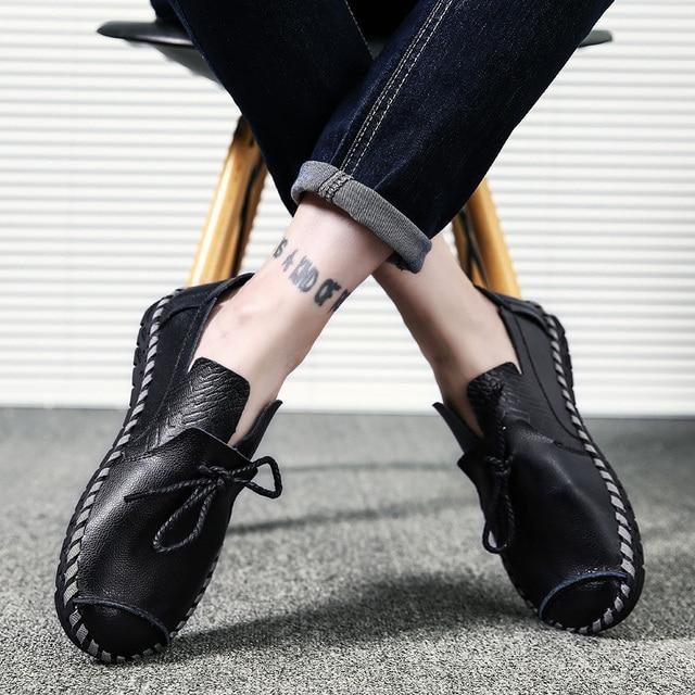 Men Loafers Men Shoes Casual Shoes 2019 Leather Shoes Men Flats Male Mocassin Homme Spring Casual Shoes Adult Men Footwear