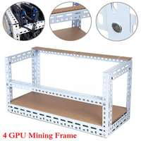 4 GPU DIY 50cmx30cmx35cm Aluminum Open Air Crypto currency Mining Miner Rig Frame Case Server Chassis