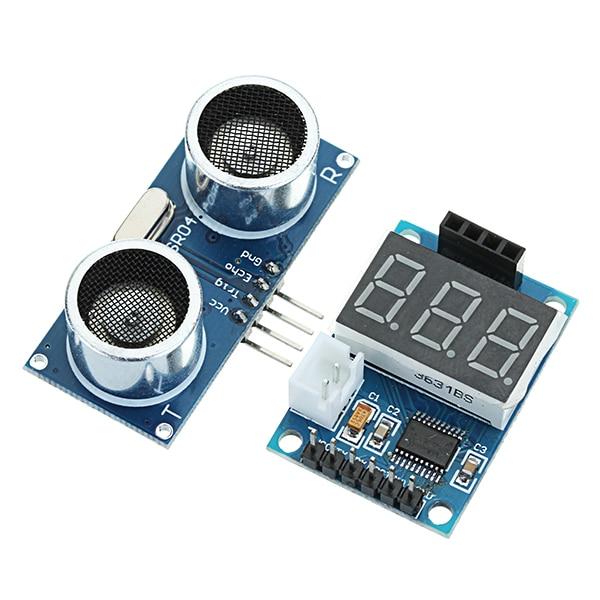 Ultrasonic Distance Measurement Control Board HC-SR04 Test Board Rangefinder Digital Display Serial Output