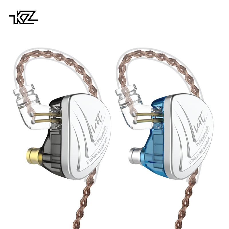 KZ AS16 8BA In Ear Earphone Balanced Armature Headset High Sound Quality Monitor HiFi Earphones AS10