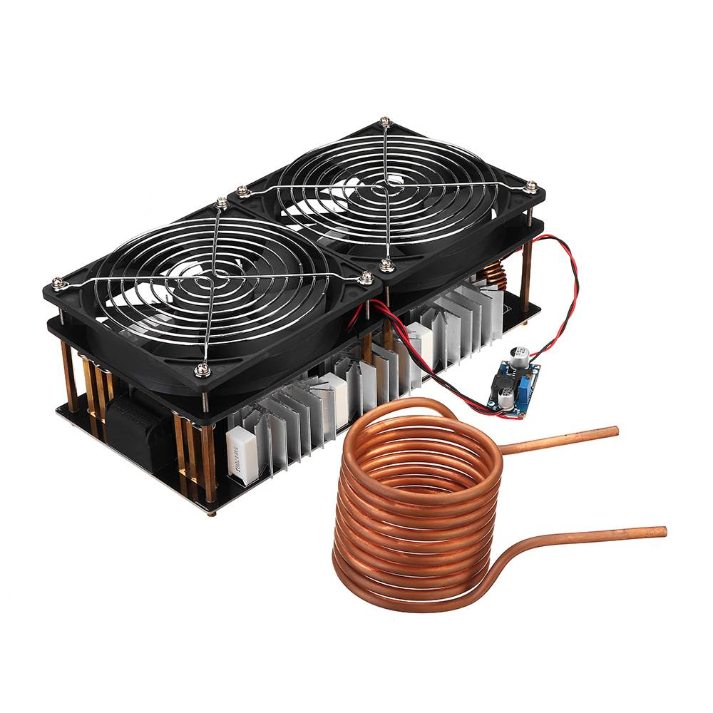 2000W ZVS Induction Heating Board induction heater Module Flyback Driver Heater Good Heat Dissipation 180*90*80mm + Coil 1800w zvs induction heating board module flyback driver heater good heat dissipation 180 90 80mm with coil