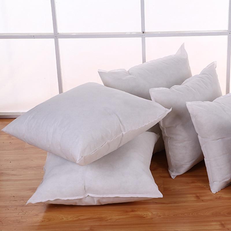 1PC Standard Pillow Cushion Core Cushion Inner Filling Soft Throw Seat Pillow Interior Car Home Decor White 40X40CM 45X45CM 49