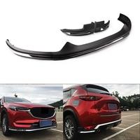 Auto Car Front Rear Bumper Board Guard Skid Plate Bar Protector For Mazda CX 5 CX5 2017 2018 Silver 2PCS Back + 1 PC Front