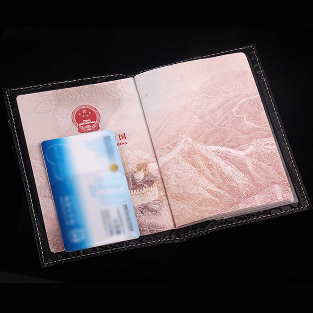 2019 nuovo Modello Del Coccodrillo Della Copertura Del Passaporto Titolare Della Carta di piccolo Unisex di Viaggio Del Passaporto del Cuoio del Supporto di Caso Del Passaporto Delle Donne e Gli Uomini