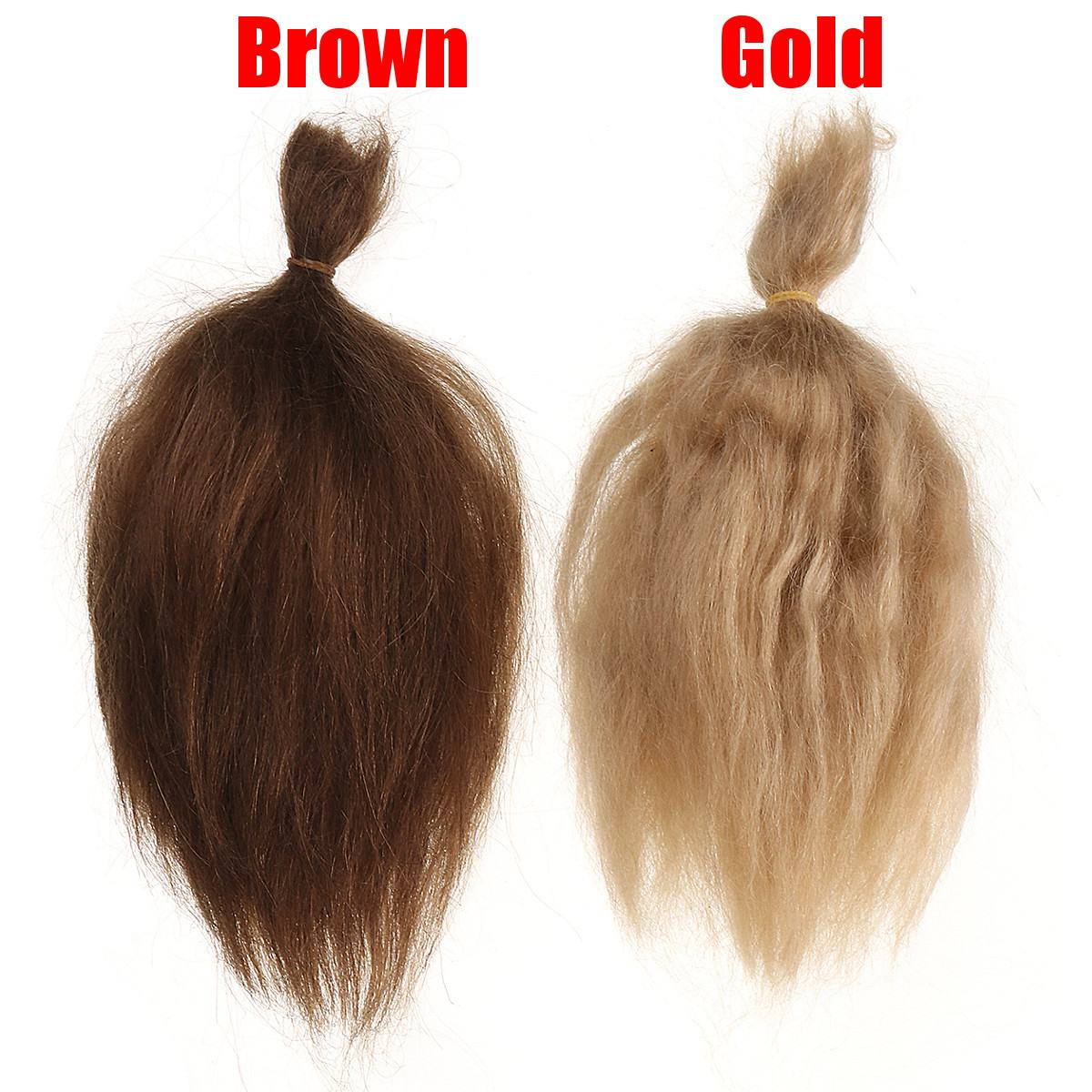 15g Brown Gold 100% Pure Natural Mohair Doll Hair 6 Inch For Children Baby Dolls Angora Goat Wig Doll Toy Accessories Fashion