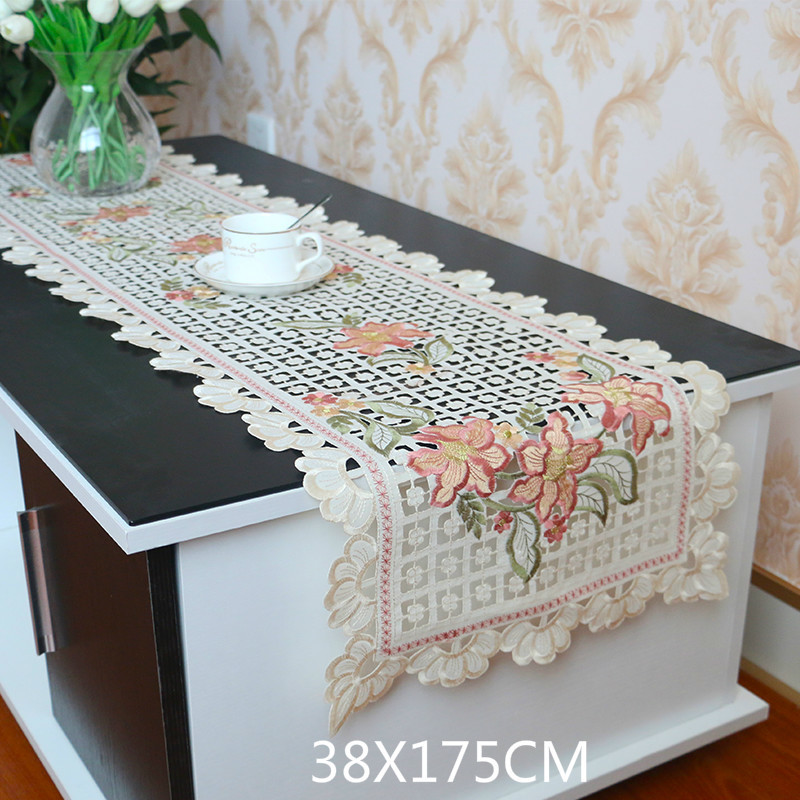 Modern Embroidery Table Runner Summer Blue Decorative Table Runners Home Textile Dining Tables Tablecloth Cabinet Cover Cloth Buy At The Price Of 29 42 In Aliexpress Com Imall Com