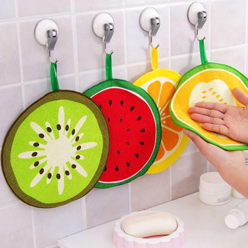 Sprzedaż ręcznie ręcznik silne wchłanianie wody słodkie owoce w kształcie wiszące typu dla dzieci chusteczka ręcznik kuchenny Cartoon Home