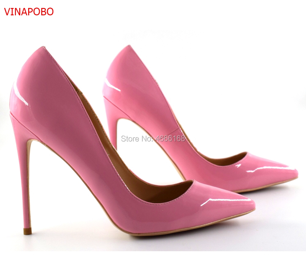 Big Sale Sexy Pointed Toe Patent Leather High Heel Pumps Patente Leather Stiletto Heels Woman Shoes