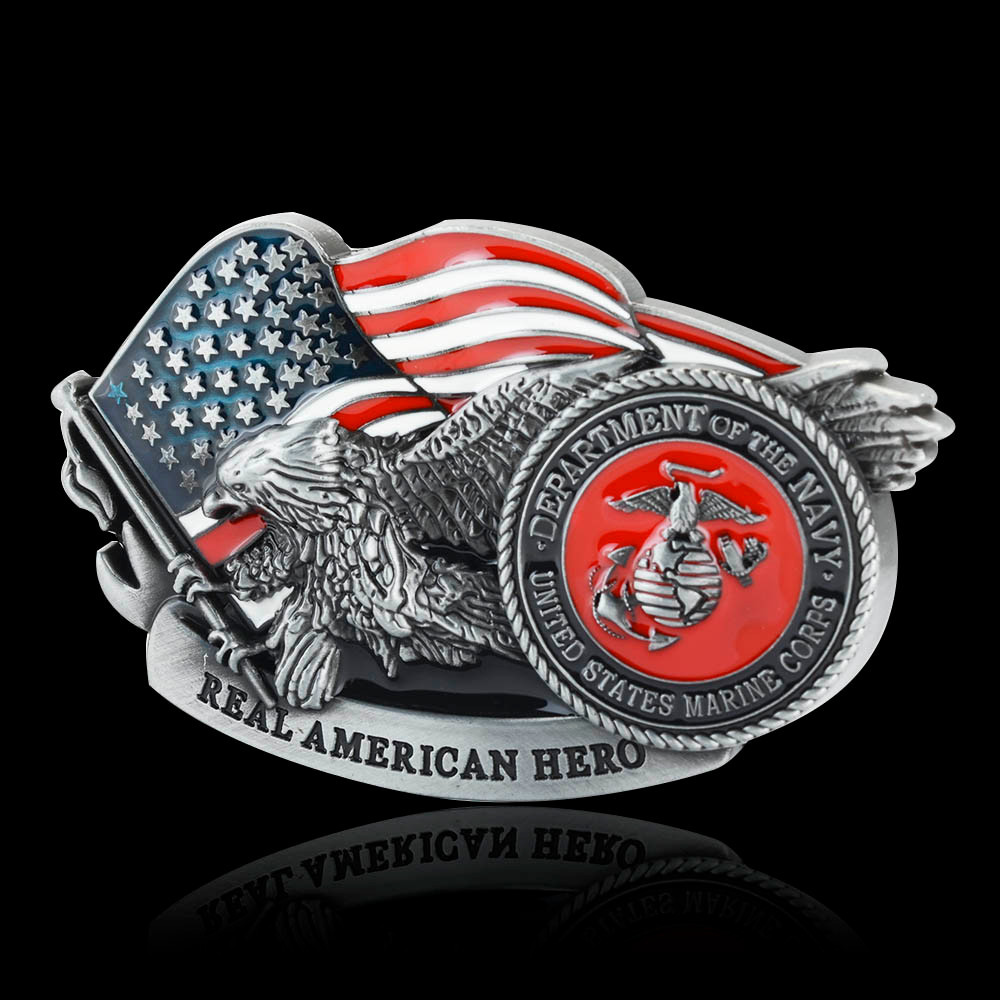Men's Belt Buckle Buckles United States Marine Corps Belt Buckle Fit 3.6-3.8cm Wide Belts Factory Belt Accessories Wholesale