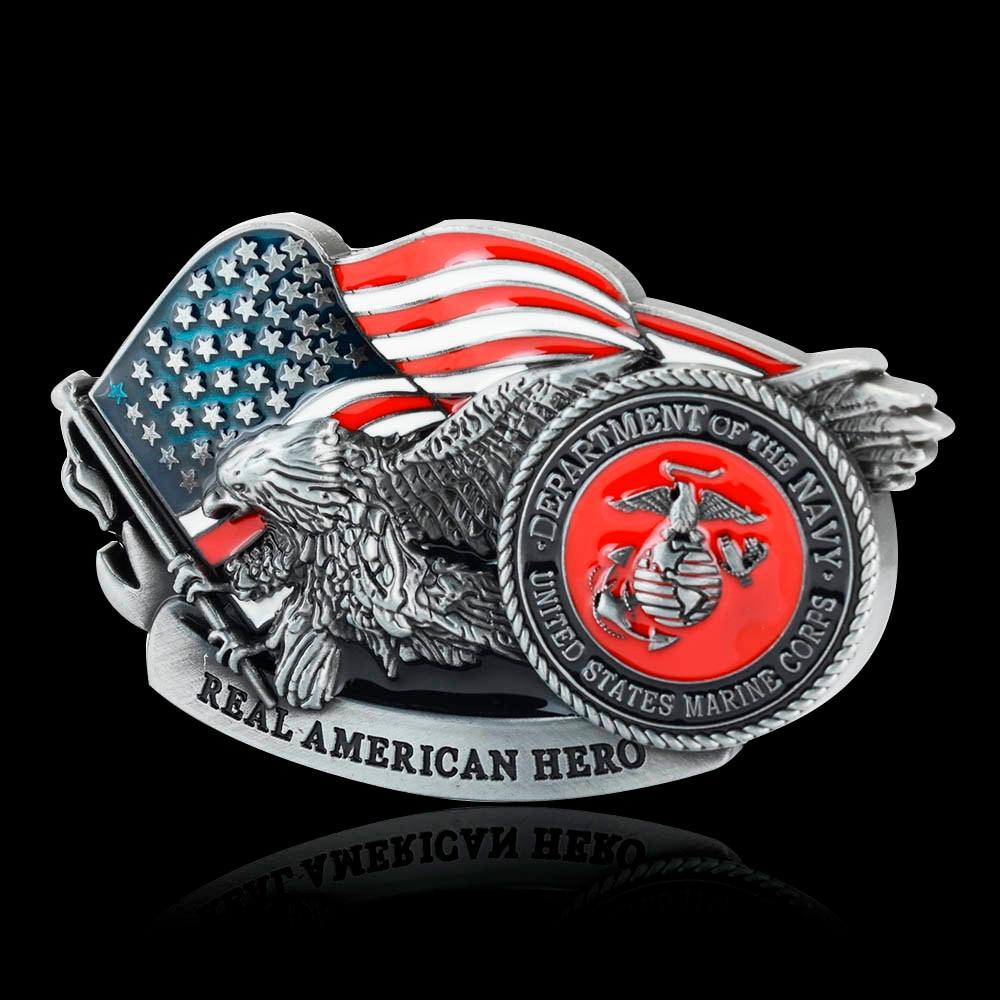 Men's Belt Buckle Buckles United States Marine Corps Belt Buckle Fit 3.6-3.8cm Wide Belts Factory Belt Accessories Wholesale