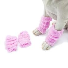 Warm Autumn Winter Pet Dog Leg Warmers Socks Printed Non-slip Leopard Dots Drop Shipping 4Pcs/Set