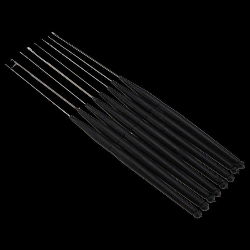 1 sztuk/partia plastikowe szydełko warkocz igły pióro do przedłużania włosów narzędzia peruka hak nawlekacz igły dziewiarskie włosy szydełka igły