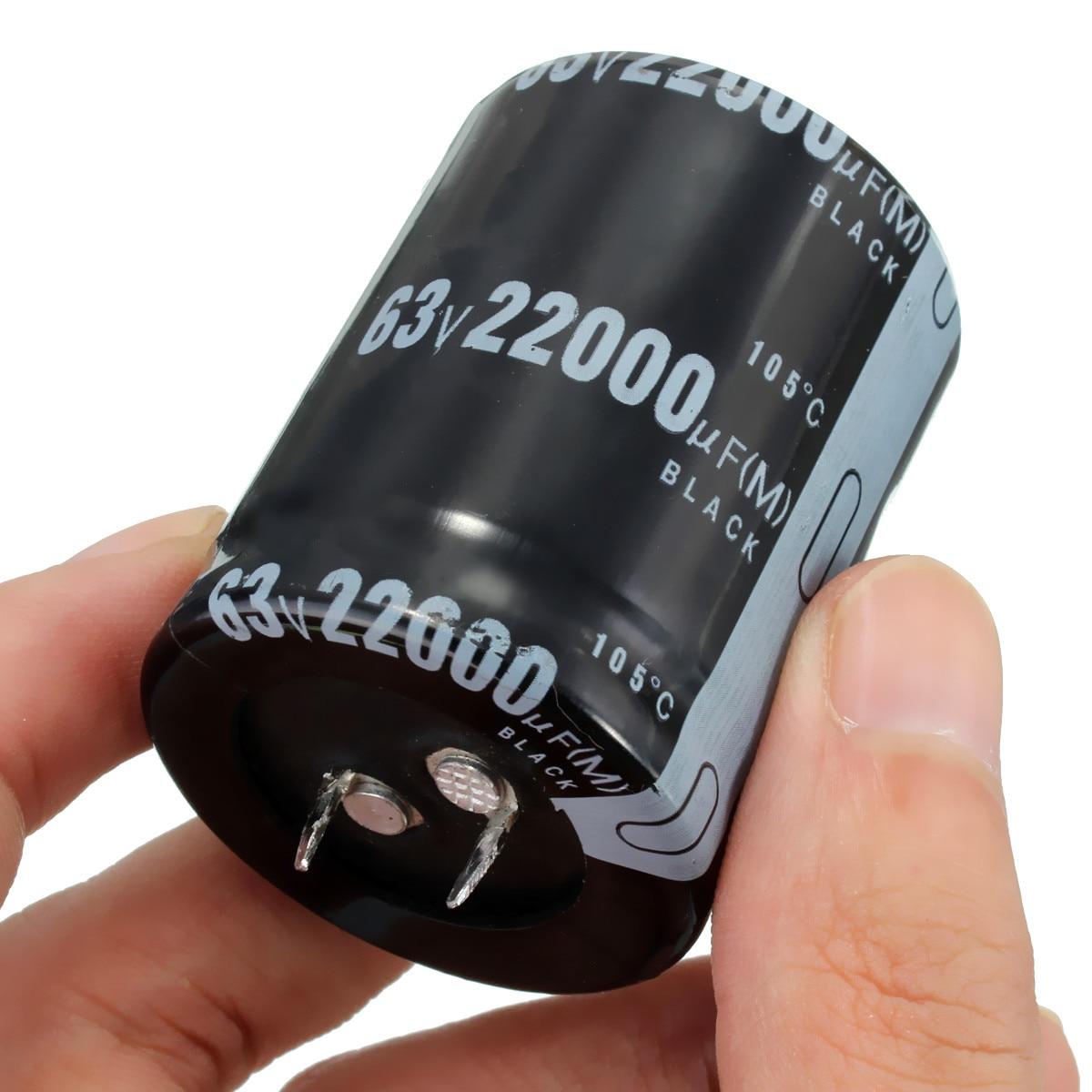 TMOEC 1PC 22000UF 63V Aluminum Electrolytic Capacitor 105 Celsius Dimension 35x50mm Cylindrical
