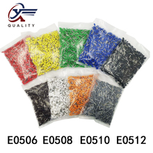 цена на 1000pcs/Pack E0508 Insulated Cord End Terminal Crimp Terminal Wire Connector Crimp Ferrules Crimping Terminals Tubular AWG #22