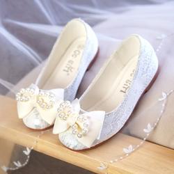 Дети Цветочные Туфли с бантиками Туфли без каблуков принцессы обувь для девочек девушки плоские свадебные туфли для От 3 до 9 лет 889-78b
