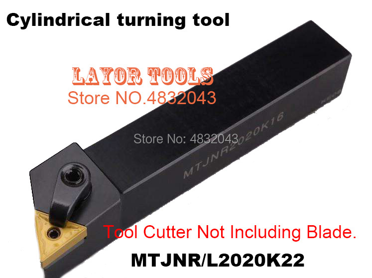 Ferramentas de corte de metal, ferramenta cnc de torneamento cilíndrico mtjnr2020k22 20*20*125mm ferramenta de torneamento externo, tipo mtjnr/ l