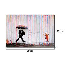 "30"" x 20"" Colorful Rain And Spray Prints Paintings Modern Canvas Wall Art Without Frames For Home Decorative Picture(China)"
